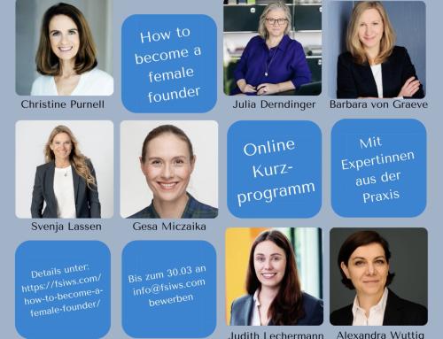 """Neues Kurzprogramm für weibliche Gründerinnen: """"How to become a female founder?"""""""